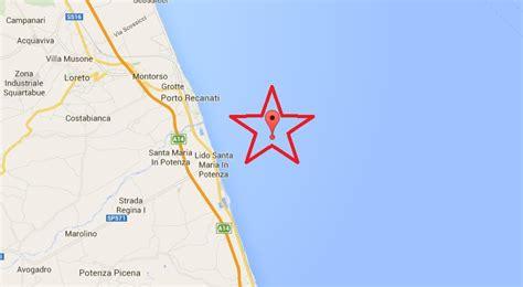 terremoto a porto recanati terremoto oggi in italia scossa magnitudo 3 a porto