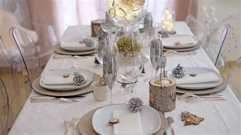 faire une table de noel chic  simple table de noel