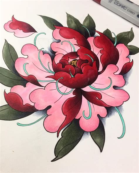peony  instagramcom tattoo japanese flower