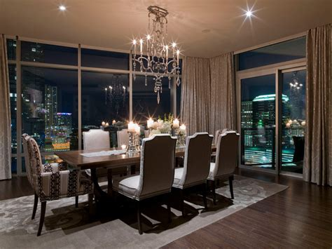 Dining Room Set And Interior Design Ideas Photos by Austonian Luxury Condo Contemporary Dining Room