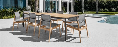 gloster cape teak outdoor patio furniture