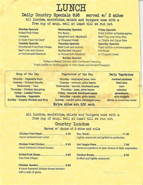menu  country kitchen red oak tx