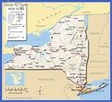 map 0f New York state - ToursMaps.com