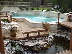 Look Over The Deck Design Ideas Design Images Stunning Inground Swimming Pools Design With Lake View Pictures Will Give You Ideas For Your Own Landscaping Design Inground Swimming Pools For Natural Backyard OLPOS Design