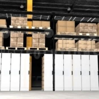 warehouse levitating overhead track sliding shelving