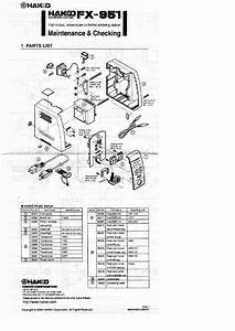 Weller Fx951 Maintenance Checking Manual Service Manual Download  Schematics  Eeprom  Repair
