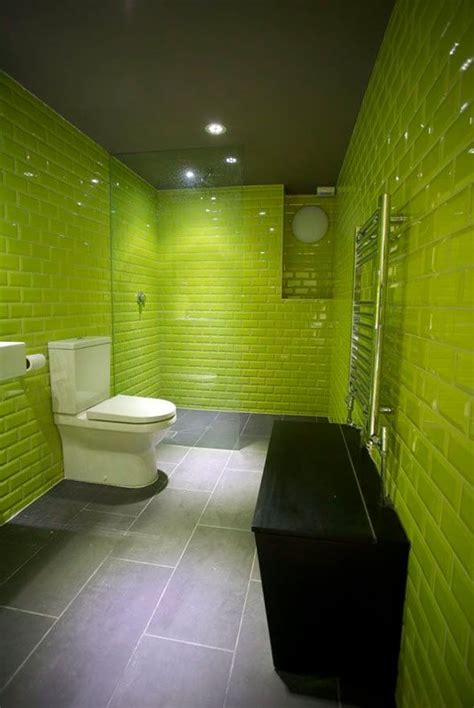 lime green bathroom wall tiles ideas  pictures