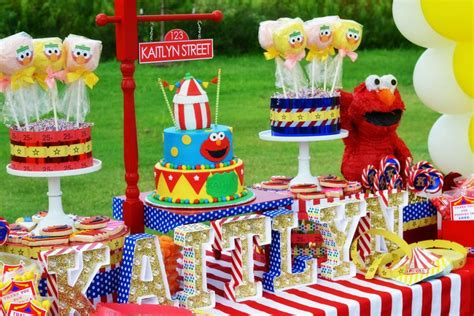 tag theme ideas for 1st birthday party for boy elmo circus party by schwaigert birthday express