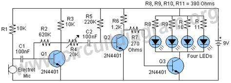 Sound Light Led Project Circuit Diagram