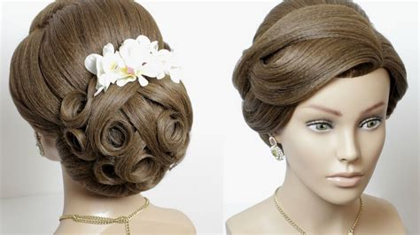 Bridal Hairstyle For Long Hair. Updo Tutorial