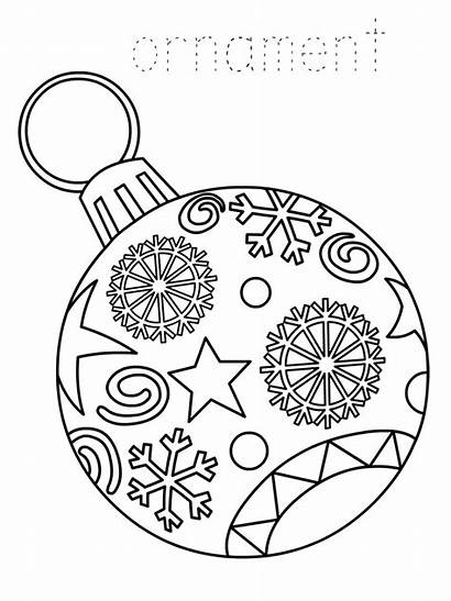Coloring Christmas Ornament Printable Pages