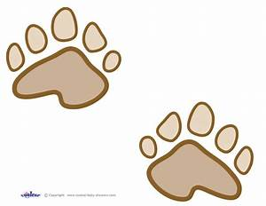 dog paw print outline clipartsco With bear footprints template