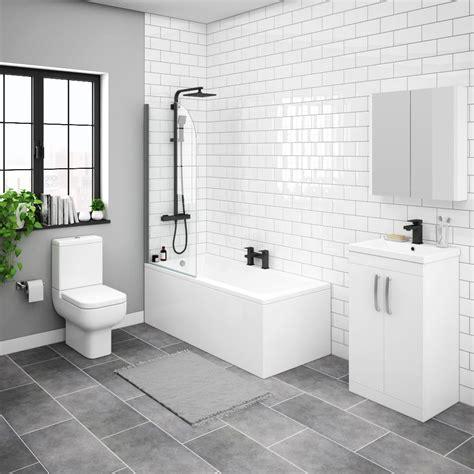 brooklyn white gloss small bathroom suite victorian
