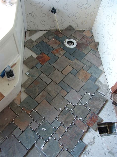 Groutless Floor Tile by Slate Hearth I Built For My Wood Stove Diy And Home