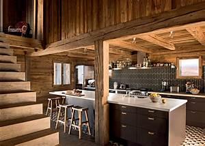 Rideaux Style Chalet : rideaux de cuisine chalet with 8 cuisines en bois clair pour copier le style montagne id es de ~ Teatrodelosmanantiales.com Idées de Décoration