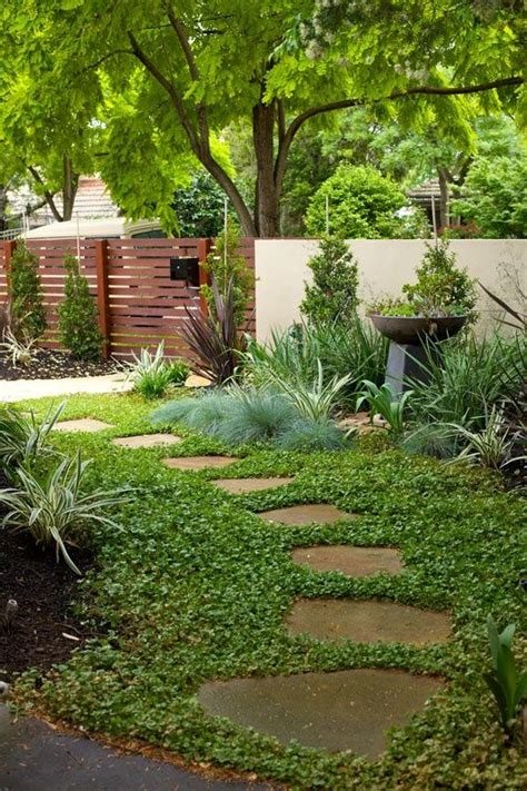 diy garden path  random shaped flagstones  ground