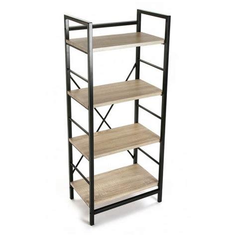 tableau memo cuisine etagere metal noir bois 4 niveaux versa 20880011