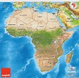 Satellite 3D Map of Africa, physical outside