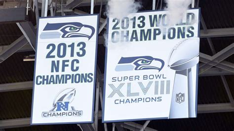 seahawks championship banner unveiled rainier industries