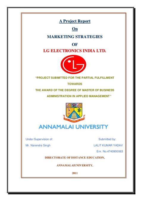 marketing strategy  lg project
