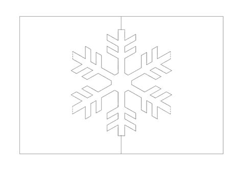 snowflake pop  card jinas