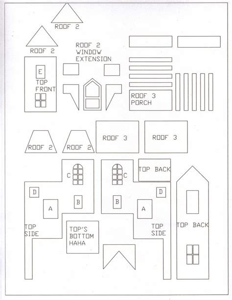 Gingerbread House Template Gingerbread House Templates Cerca Con Harry