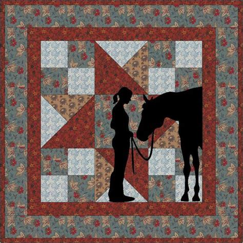 friends cowgirl applique wallhanging  pattern