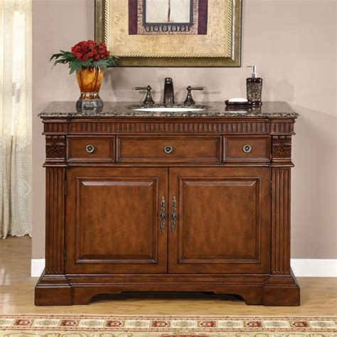 48 Inch Sink Vanity Top by Silkroad Exclusive 48 Inch Top Bathroom Vanity