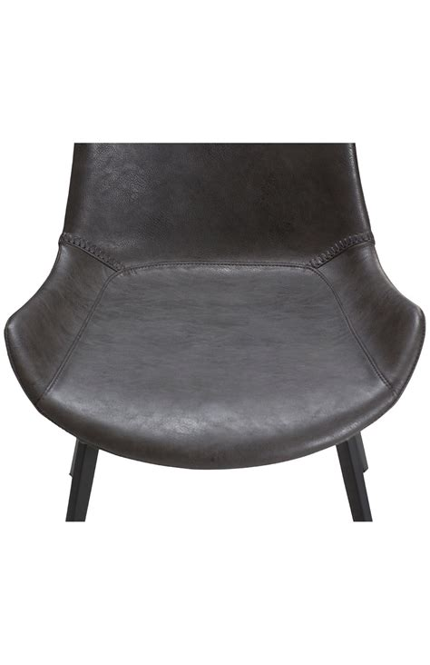 stuhl grau retro stuhl danform hype vintage grau kunstleder stuff shop de
