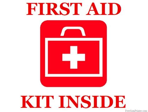 Printable First Aid Kit Inside Sign  Girl Scouts. February 1st Signs. Nerve Pain Signs. Interior Apartment Signs. Guideline Signs Of Stroke