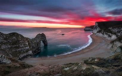 Sea Desktop Nice Shore Door Sunset Laptops