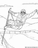 Coloring Ski Skiing Sports Coloriage Adult Sci Freestyle Dessin Hiver Imprimer Winter Klaar Olympische Voor Ausmalbilder Ausmalbild Skieur Kleurplaten Character sketch template
