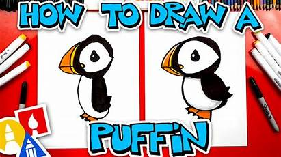 Draw Puffin Hub Animals Cartoon Stayhome Withme