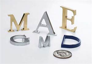 premium laser cut metal letters in aluminum brass bronze With cut metal letters
