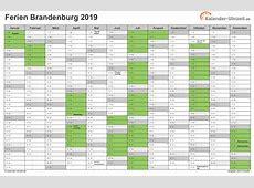 Ferien Brandenburg 2019 Ferienkalender zum Ausdrucken