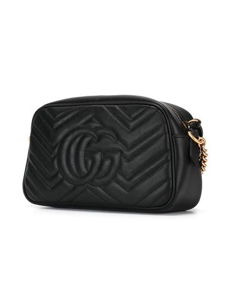 lyst gucci quilted crossbody bag  black