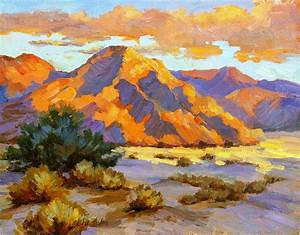 Desert Sunset Painting by Diane McClary