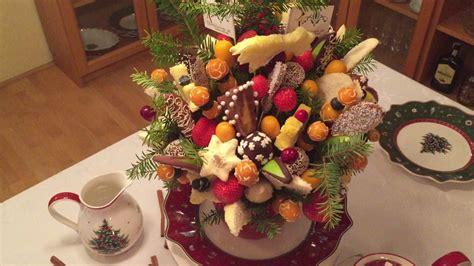 Weihnachtsdeko Für Die Gartenbank by Obst Blumenstrau 223 Weihnachten