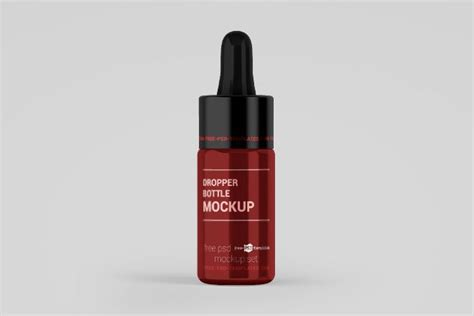 Bottle mockups make the process of presenting and packaging your designs in high quality photorealistic manner possible. Free Glossy Dropper Bottle PSD Mockup - Free Download