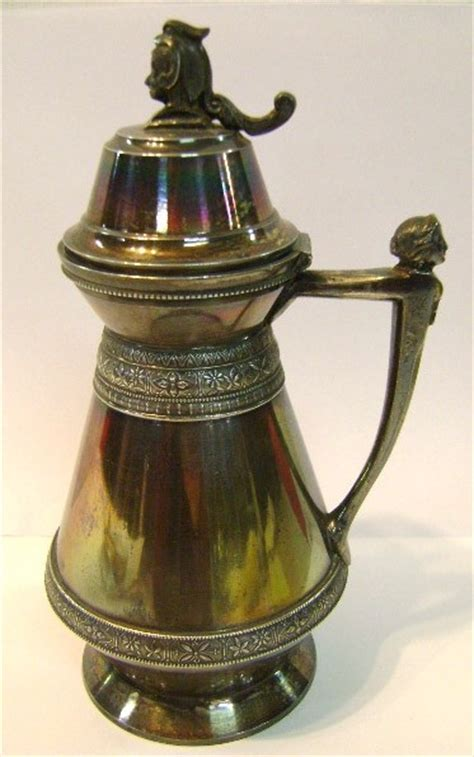 silver plate victorian syrup pitcher  victorian pitchers honey dispenser syrup