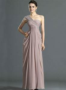 one shoulder chiffon empire evening dresses maternity With shein robe de soirée