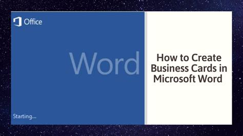 create business cards  microsoft word youtube