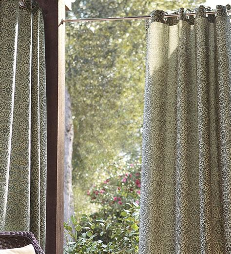 outdoor curtains with grommets grommet top curtains for patio doors website of geramoon
