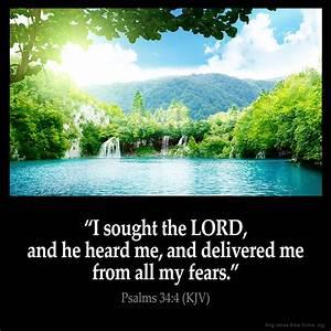 Psalms 34:4 Inspirational Image