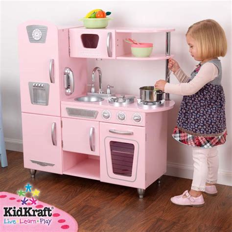amazoncom kidkraft vintage kitchen  pink toys games