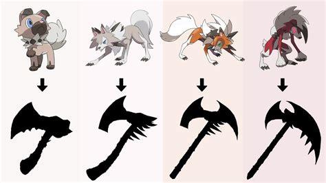 pokemon  weapons requests  rockruff lycanroc