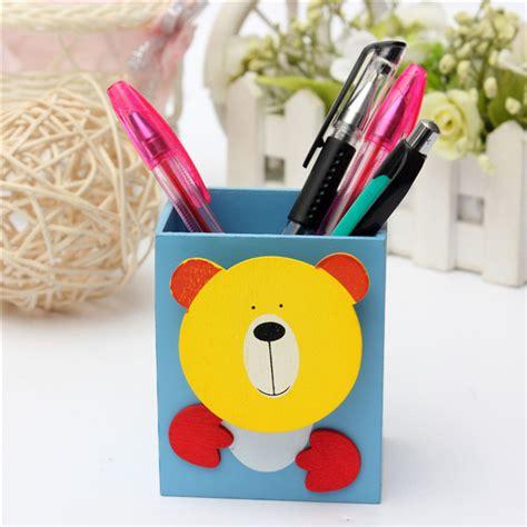 cute pen holder for desk cute animal pattern rectangle pen holder container desk