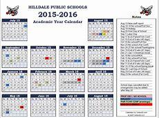 Hilldale Public Schools 20152016 School Calendar