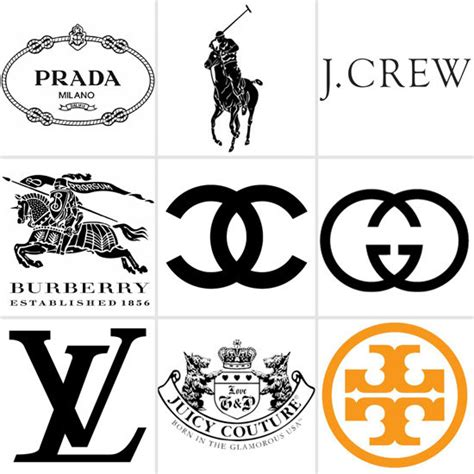designer brands list fashion labels logos style