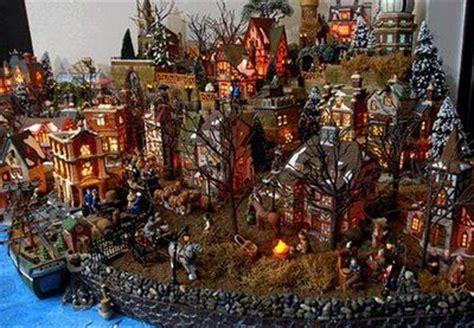 miniature christmas villages happy holidays